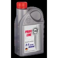 Полусинтетическое моторное масло для лодок PROFESSIONAL HUNDERT Profi Line Marine 2T Energy 1л